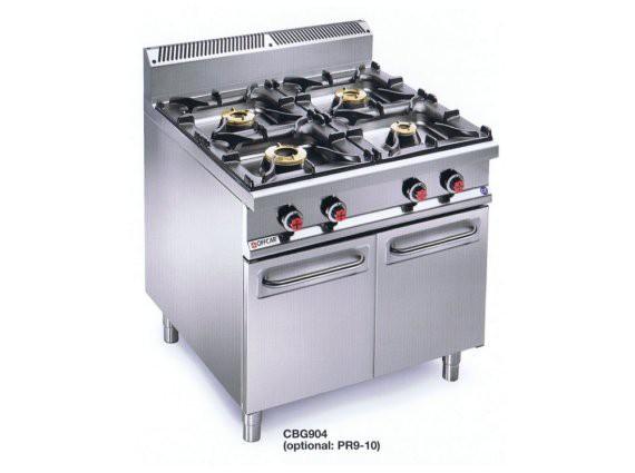 Cucina a gas 4 fuochi e noleggio cucine mobili cinefacility - Consumo gas cucina ...